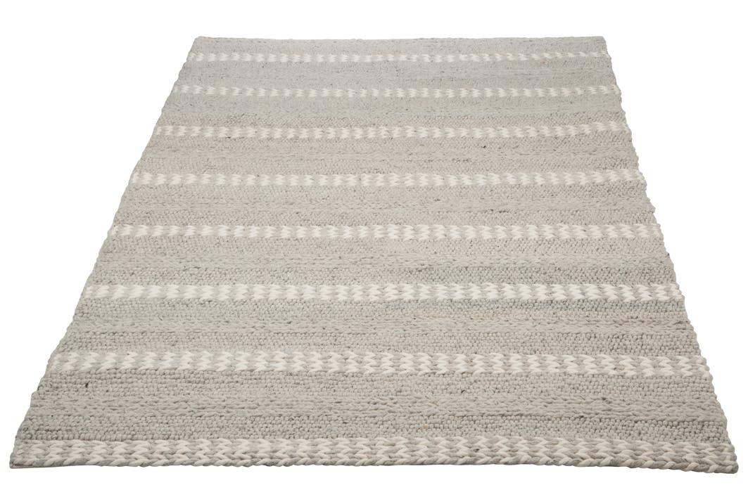 Tapis en viscose laine beige et grise 300x200cm