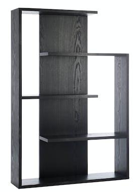 Etagère en bois noir 3 niveaux zigzag 100x24x145cm