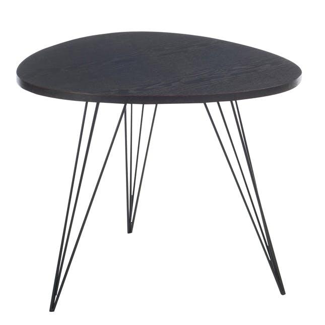 Bout de canapé rétro en bois noir 60x60x50cm