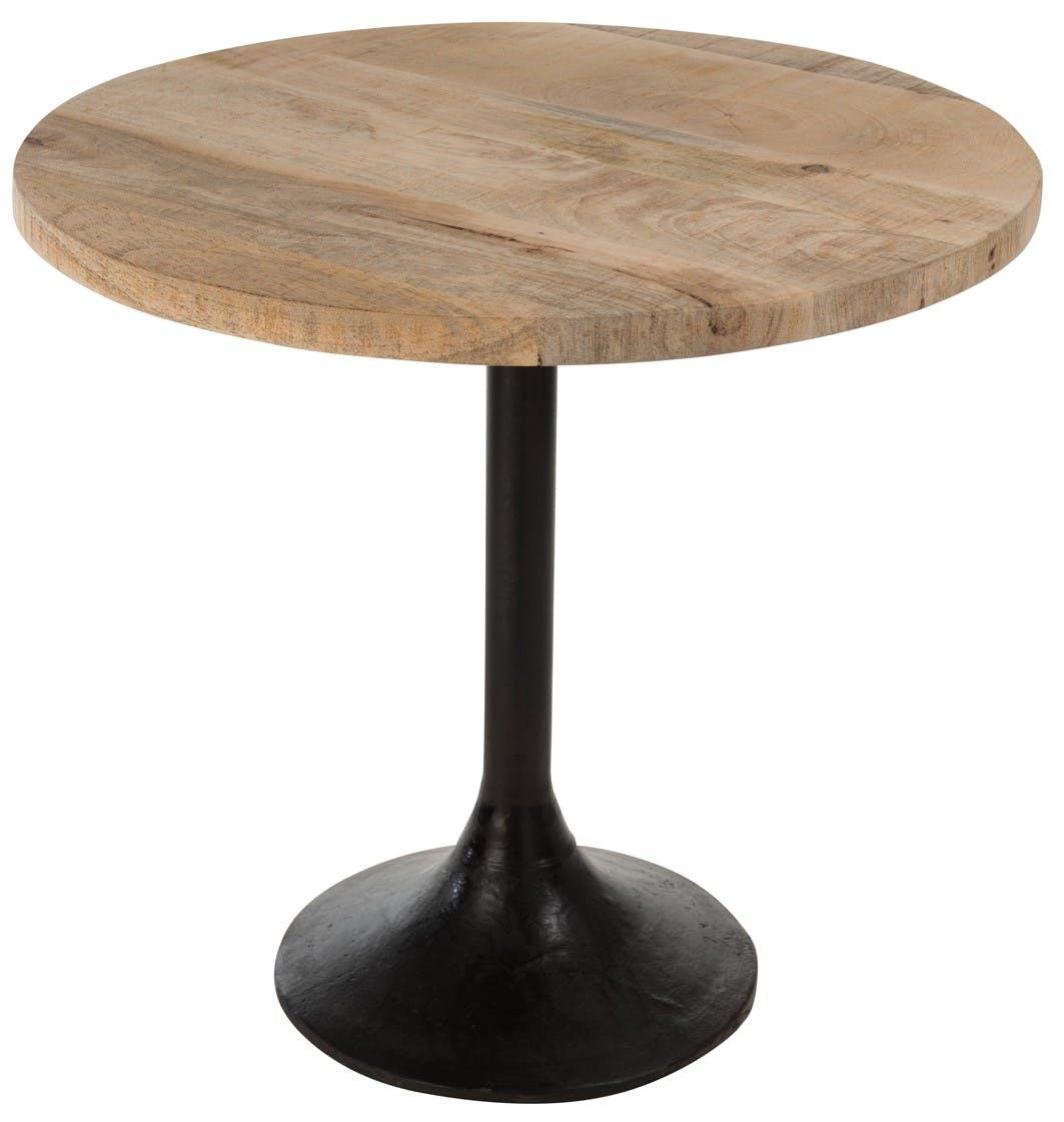 Table bistrot ronde bois métal 65x65x60 cm ref.30022855