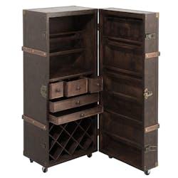 Coffre bar marron 52x49x126 cm ref.30022929