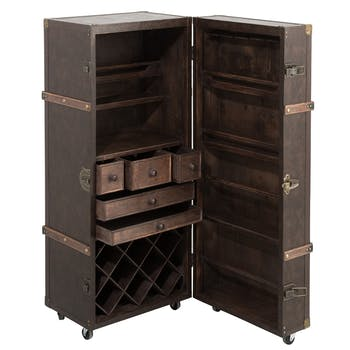 Coffre bar marron 52x49x126 cm ref.30022929