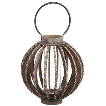 Lanterne en bois ronde ref.30022954