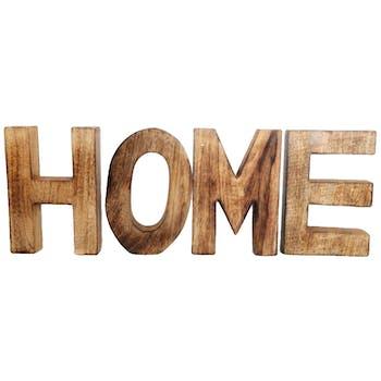 """Lettres en bois """"HOME"""""""