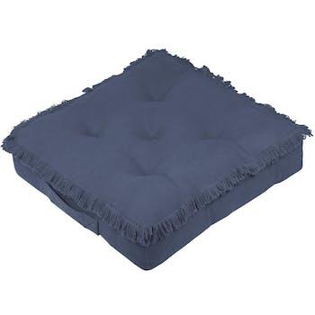 Coussin de sol bleu marine 45x45x10cm PRAGUE