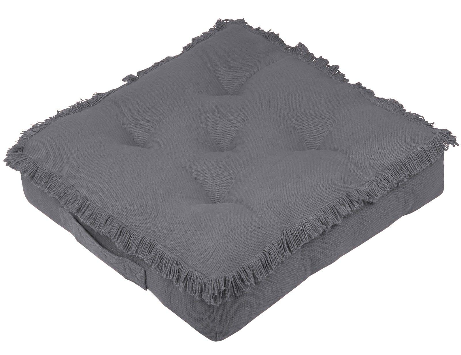 Coussin de sol anthracite 45x45x10cm PRAGUE
