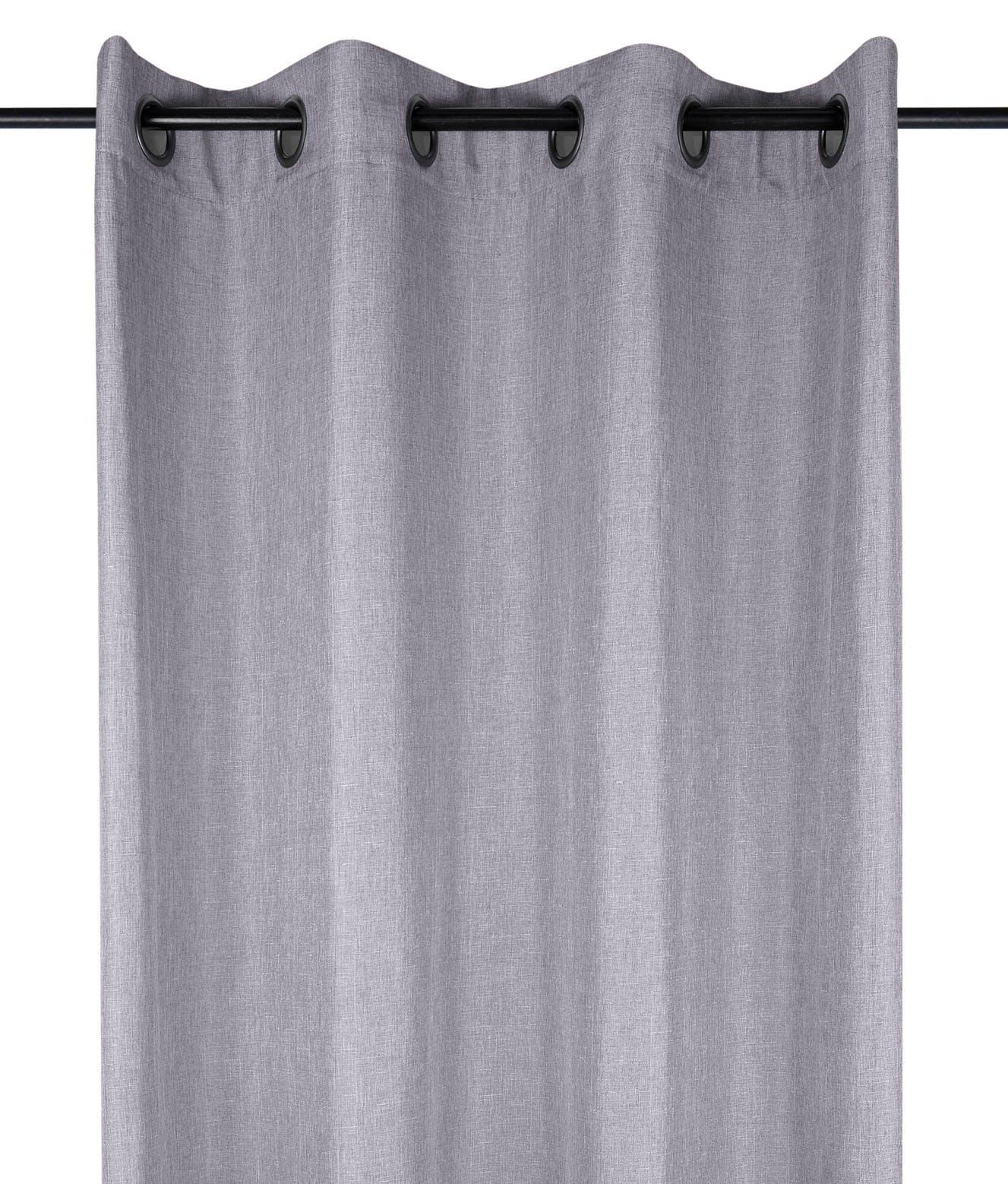 Rideau uni gris 140x260cm à œillets BEA