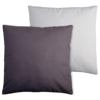 Coussin coton gris-perle 50x50cm DUO