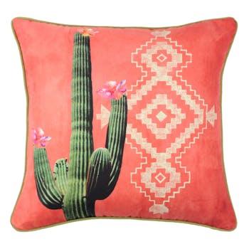 Coussin ethnique cactus 40x40cm MEXICO