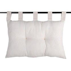 Tête de lit 100 % Coton rayures Lin 40x70 ALPHONSINE