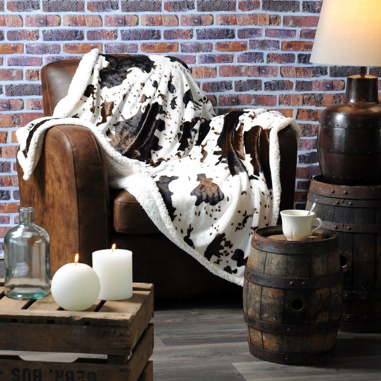 Plaid choco décor Vache 130x150cm VACHE