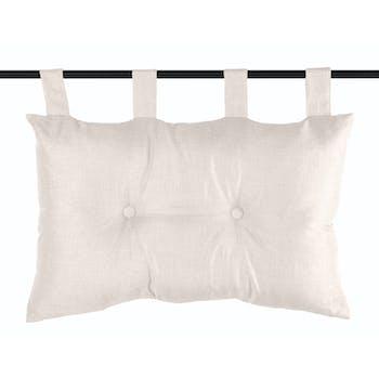 Tête de lit unie capitonnée couleur lin 45x70cm BEA