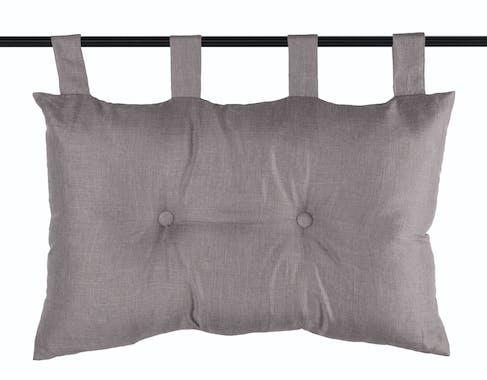Tête de lit unie capitonnée couleur taupe 45x70cm BEA