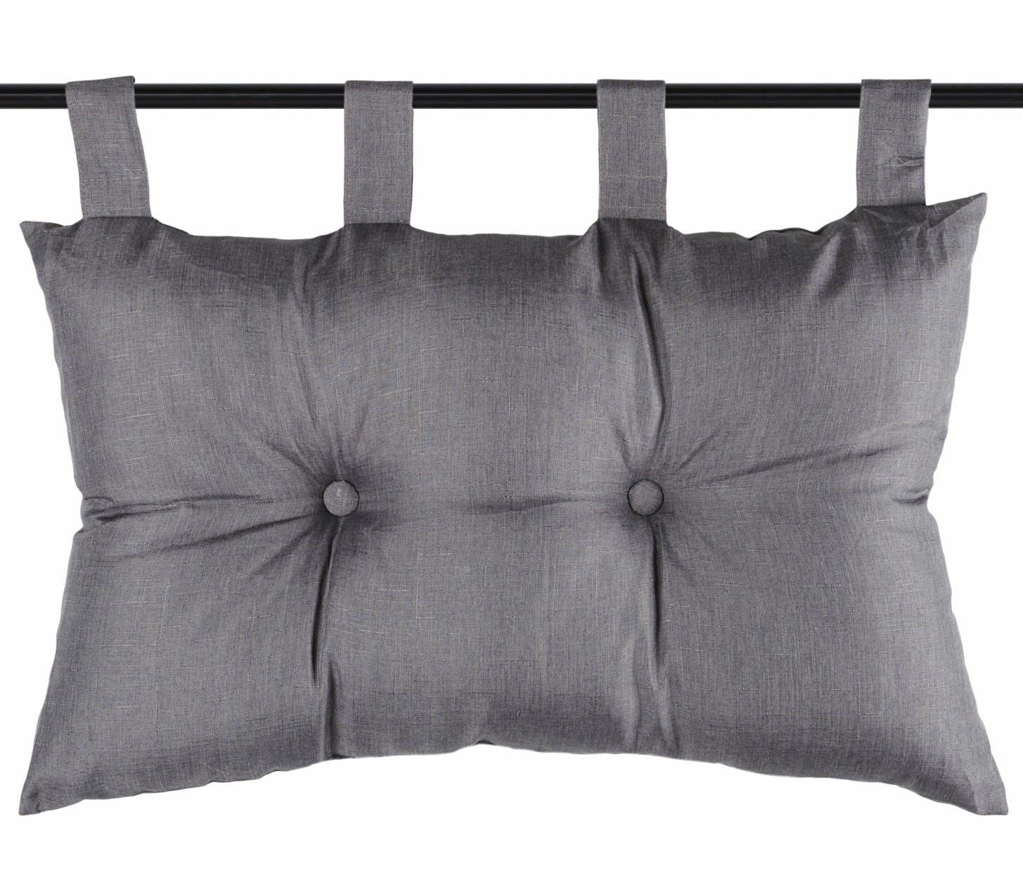 Tête de lit unie capitonnée gris foncé 45x70cm BEA