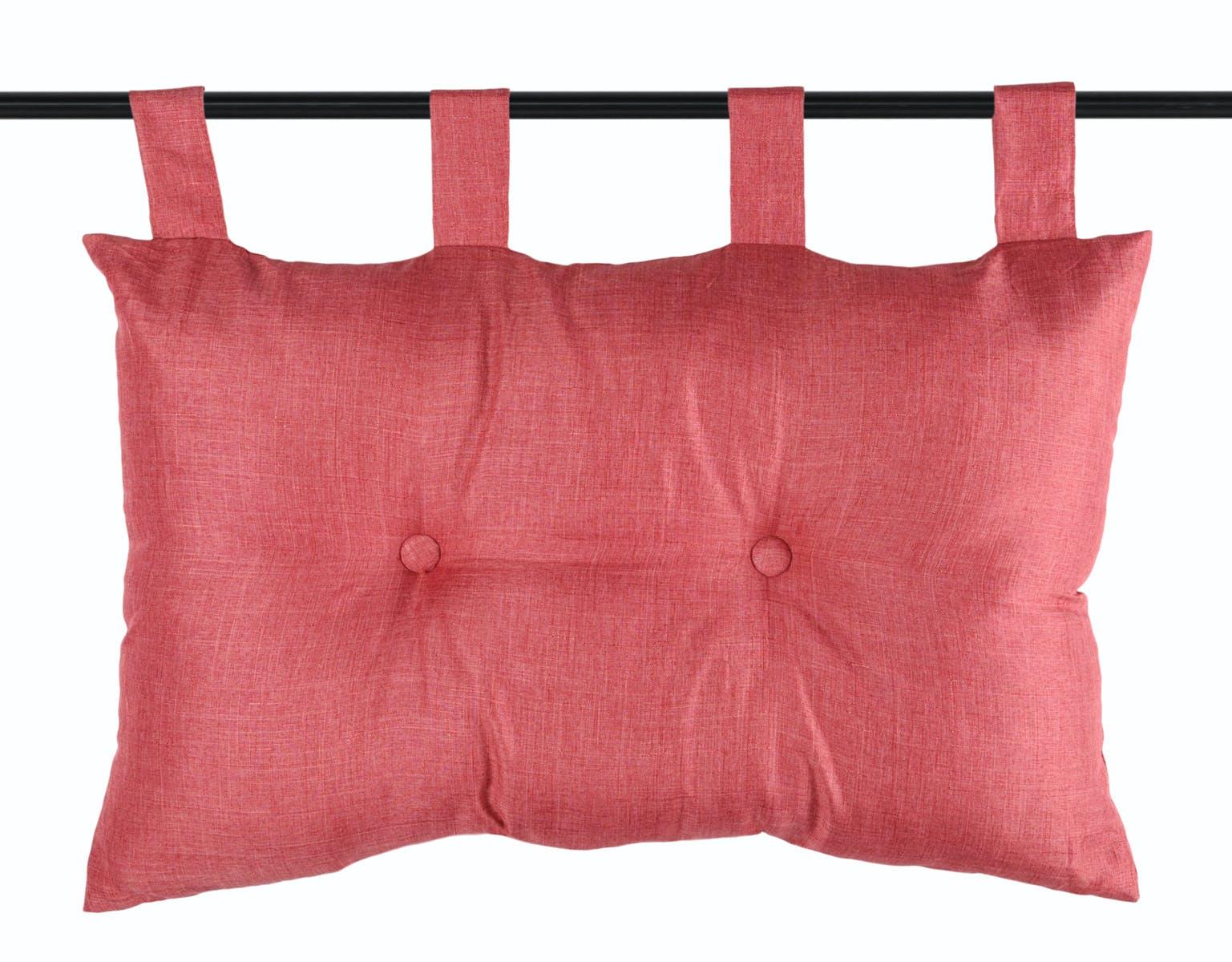 Tête de lit unie capitonnée rouge 45x70cm BEA