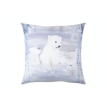 Coussin Ourson blanc 40x40cm WINTY