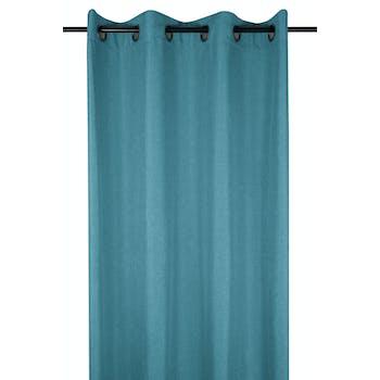 Rideau uni turquoise 140x260cm à oeillets BEA