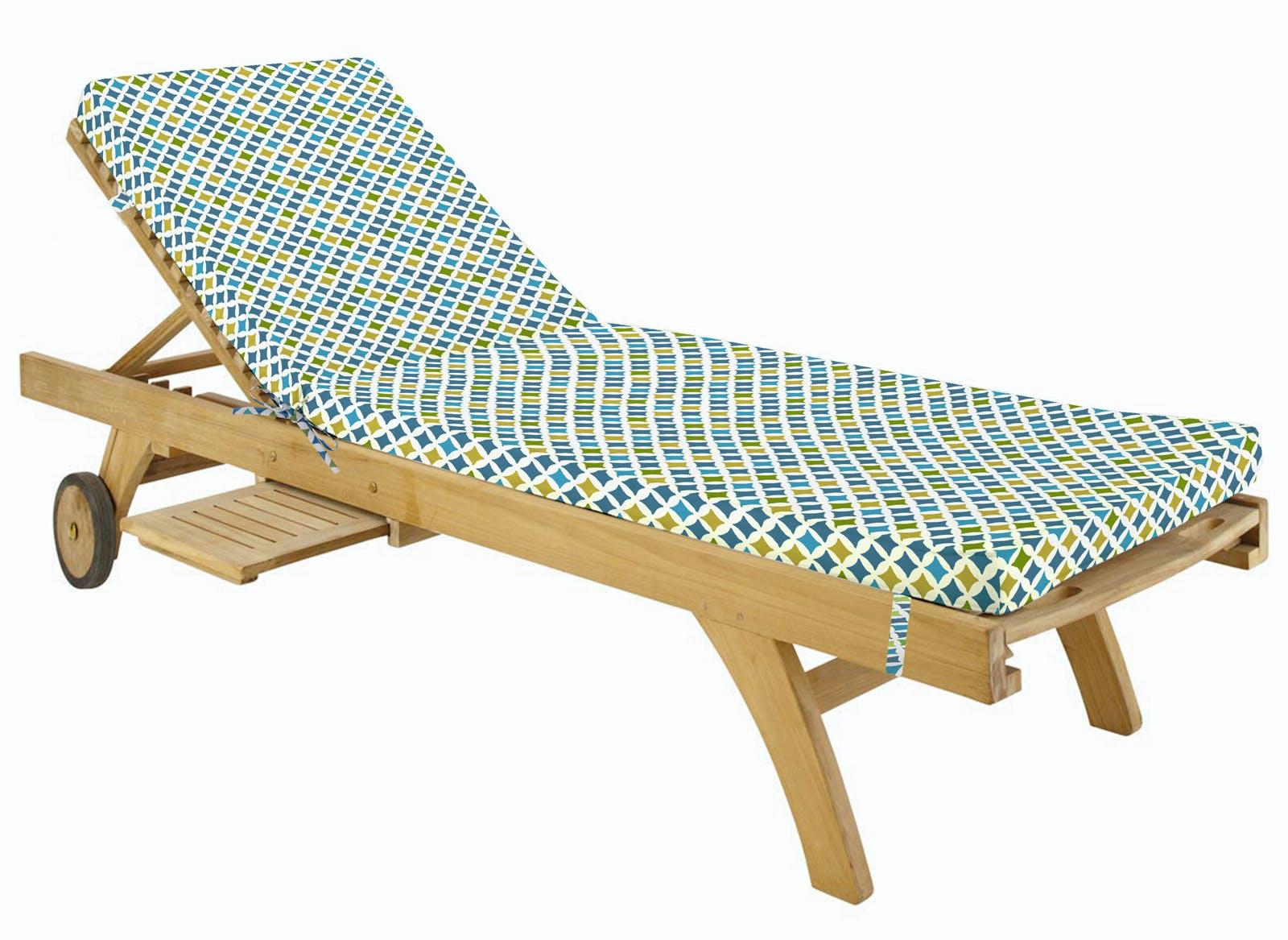 Matelas bain de soleil multicolore en coton 55x180cm TAMARI