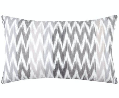 Coussin gris en coton 30x50cm IKATI