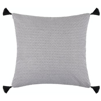 Coussin carré recto gris verso noir 40x40cm BENIN
