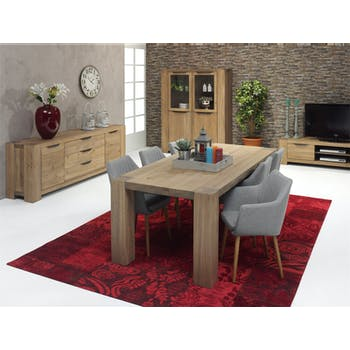 Table repas Moderne Chêne vieilli massif 240X100X77 GONE