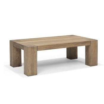 Table basse Moderne Chêne vieilli massif 135X80X40 GONE