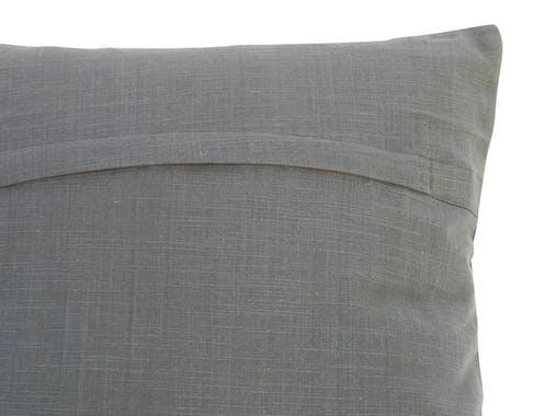 Coussin tissu coton plissé anthracite 40x40cm