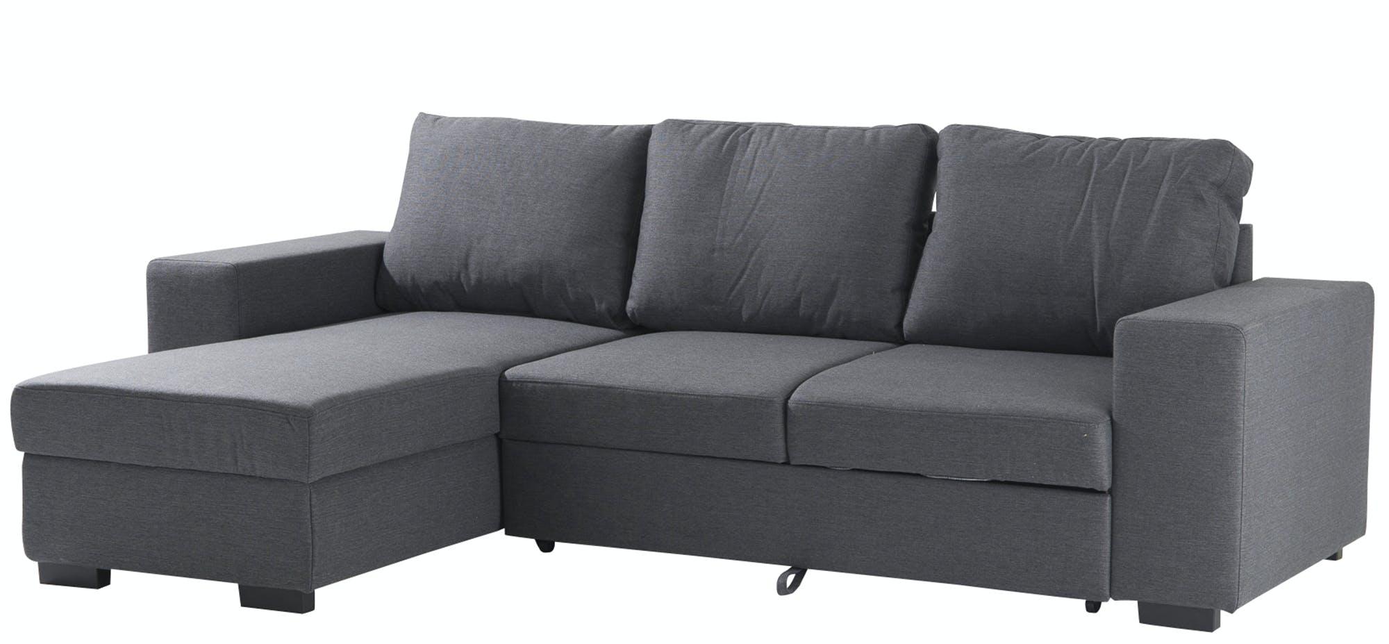 Canapé angle Véronique tissu gris 253x88x86cm