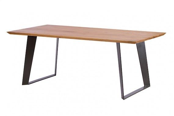 Table à manger bois métal 220 cm VOLGA