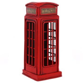 Tirelire cabine téléphonique anglaise 15 cm