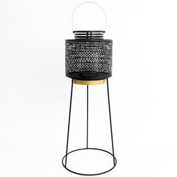 Lanterne métal sur pied