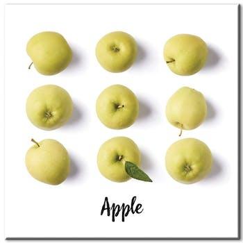 Tableau photo plexiglas pommes vertes