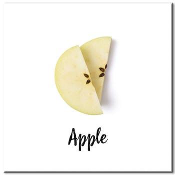 Tableau photo plexiglas quartiers de pommes