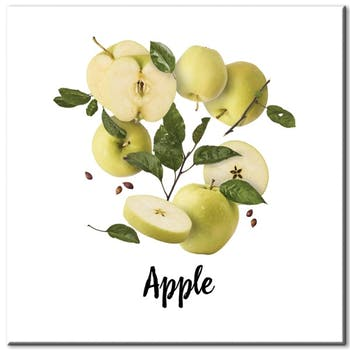 Tableau photo plexiglas pommes fraîches