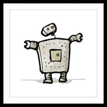 Affiche enfant encadrée robot