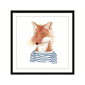 Affiche enfant encadrée petit renard