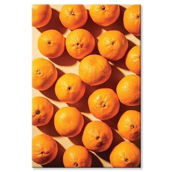 Tableau design oranges aluminium
