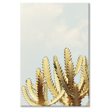 Tableau design cactus dentelé aluminium