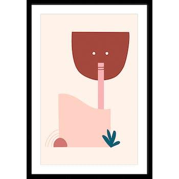 Affiche décorative encadrée graphique cocktail
