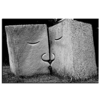 Tableau design sculpture baiser aluminium