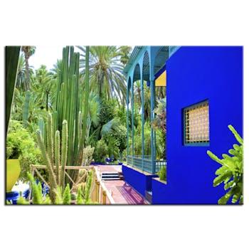 Tableau design Jardin Majorelle aluminium