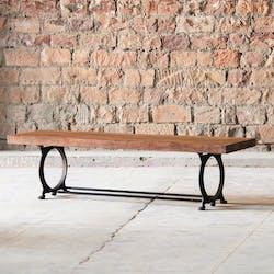 Banc industriel vintage bois recyclé 180 cm LEEDS
