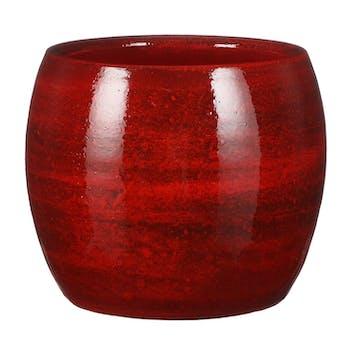 Cache-pot en terre cuite rouge D 16 cm