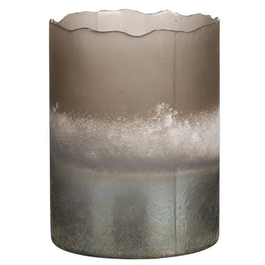Vase photophore effet marbre H 15 cm