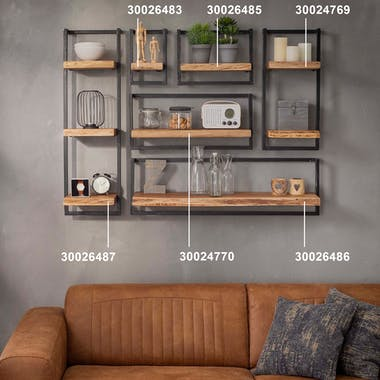 Etagère verticale bois métal MELBOURNE