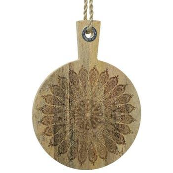 Planche à découper ronde motif mandala