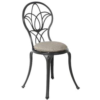 Chaise bistrot de jardin gris foncé
