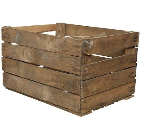 Caisse en lames de bois