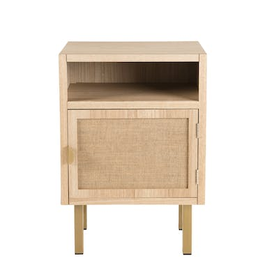 Table de chevet moderne toile de jute CORDOUE