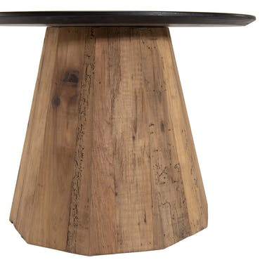 Table d'appoint ronde bois recyclé pin CRACOVIE